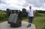 US Quad Gun, Flugabwehrgeschütz cal.50, Ranville, Pegasus Memorial